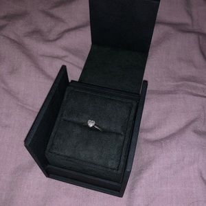 Petite Pace Heart Ring w/ Diamonds